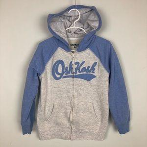 OshKosh girls zip hooded sweatshirt size 7
